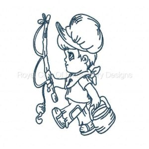 Royal Club Of Embroidery Designs - Machine Embroidery Patterns Bluework Little Boys Set