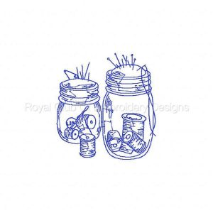 Royal Club Of Embroidery Designs - Machine Embroidery Patterns Blue Work Sewing Accessories Set