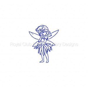 Royal Club Of Embroidery Designs - Machine Embroidery Patterns Bluework Sweet Fairies Set