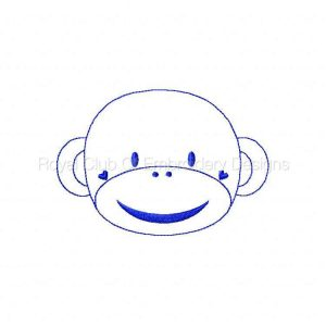 Royal Club Of Embroidery Designs - Machine Embroidery Patterns Bluework Sock Monkeys Set