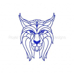 Royal Club Of Embroidery Designs - Machine Embroidery Patterns Blackwork Wild Animals Set