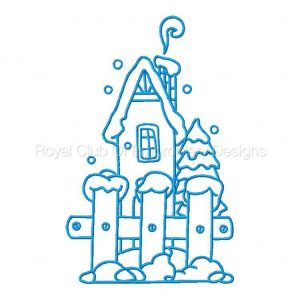 Royal Club Of Embroidery Designs - Machine Embroidery Patterns BW Winter Set