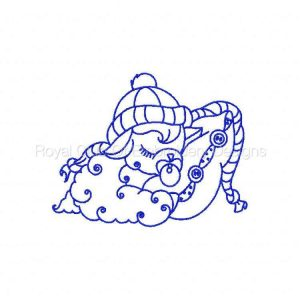 Royal Club Of Embroidery Designs - Machine Embroidery Patterns Bluework Winter Baby Lambs Set
