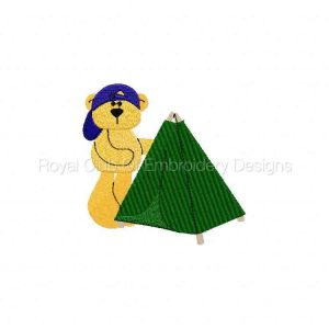 Royal Club Of Embroidery Designs - Machine Embroidery Patterns Camping Bears Set