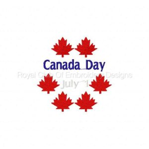 Royal Club Of Embroidery Designs - Machine Embroidery Patterns Canada Day Set