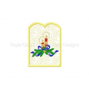 Royal Club Of Embroidery Designs - Machine Embroidery Patterns Candle Reflectors 1 Set