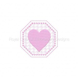 Royal Club Of Embroidery Designs - Machine Embroidery Patterns Candlewick Valentine Coasters Set