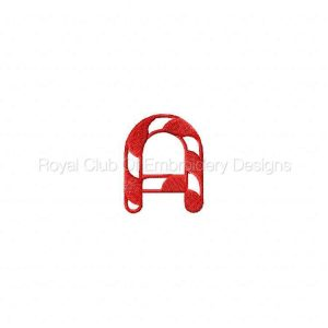 Royal Club Of Embroidery Designs - Machine Embroidery Patterns DD Candy Cane Alpha Set