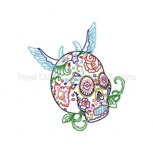 Royal Club Of Embroidery Designs - Machine Embroidery Patterns Candy Skulls Set
