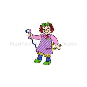 Royal Club Of Embroidery Designs - Machine Embroidery Patterns DD Career Raggedies 1 Set