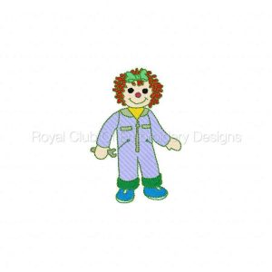 Royal Club Of Embroidery Designs - Machine Embroidery Patterns DD Career Raggedies 2 Set