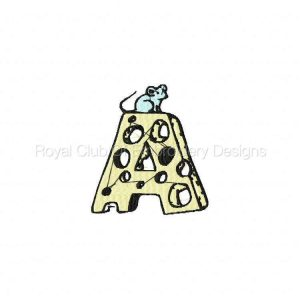 Royal Club Of Embroidery Designs - Machine Embroidery Patterns Cheese and Mouse Font Set