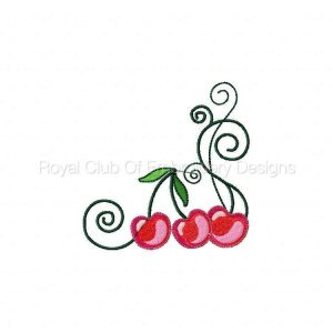 Royal Club Of Embroidery Designs - Machine Embroidery Patterns Cherry Flowers Set