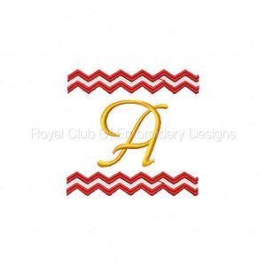 Royal Club Of Embroidery Designs - Machine Embroidery Patterns Chevron Monogram Set