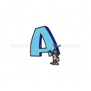 Royal Club Of Embroidery Designs - Machine Embroidery Patterns Childrens Alphabet Set