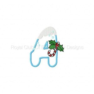 Royal Club Of Embroidery Designs - Machine Embroidery Patterns Christmas Applique Alphabet Set