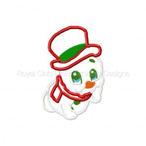 Royal Club Of Embroidery Designs - Machine Embroidery Patterns Christmas Baby Snowman Applique Set