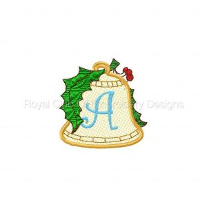 Royal Club Of Embroidery Designs - Machine Embroidery Patterns Christmas Bells Applique Alphabet Set