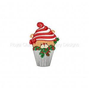 Royal Club Of Embroidery Designs - Machine Embroidery Patterns Christmas Cupcakes Set