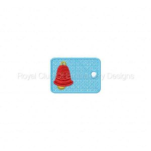 Royal Club Of Embroidery Designs - Machine Embroidery Patterns Christmas Gift Tags Set