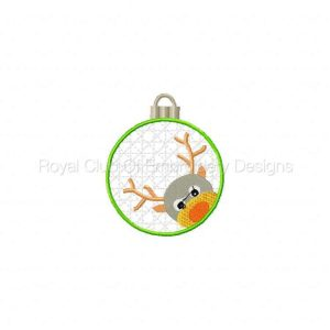 Royal Club Of Embroidery Designs - Machine Embroidery Patterns Christmas Mylar Ornaments Set
