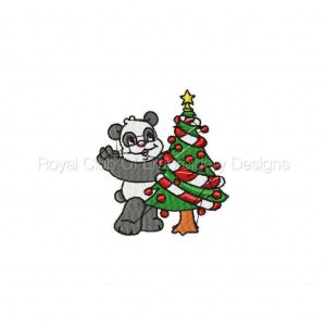 Royal Club Of Embroidery Designs - Machine Embroidery Patterns Christmas Pandas Set