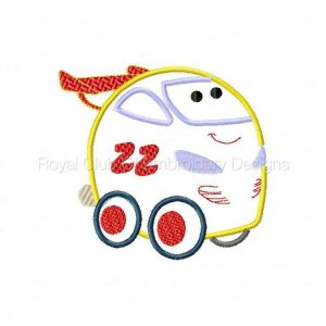 Royal Club Of Embroidery Designs - Machine Embroidery Patterns Chubby Cars Applique Set