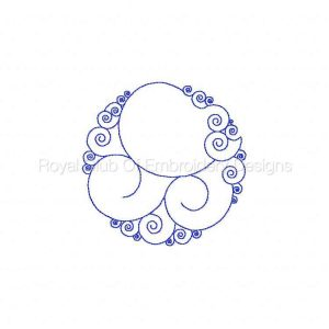 Royal Club Of Embroidery Designs - Machine Embroidery Patterns Circle Backgrounds Set