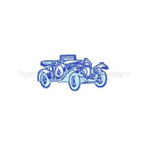 Royal Club Of Embroidery Designs - Machine Embroidery Patterns DD Classic Cars Set