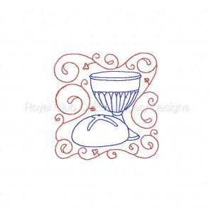 Royal Club Of Embroidery Designs - Machine Embroidery Patterns Color Line Easter Blocks Set