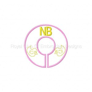 Royal Club Of Embroidery Designs - Machine Embroidery Patterns Babys Room Closet Dividers Set