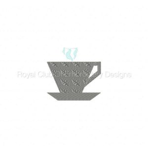 Royal Club Of Embroidery Designs - Machine Embroidery Patterns Coffee Cup Pieced Quilt Blocks Set