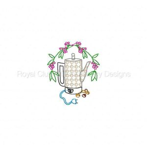 Royal Club Of Embroidery Designs - Machine Embroidery Patterns Coffee Aromas Set