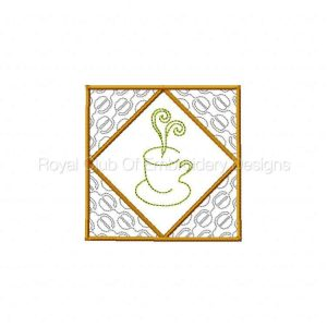 Royal Club Of Embroidery Designs - Machine Embroidery Patterns Coffeetime Quilt Blocks Set