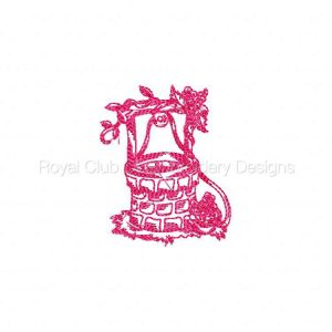 Royal Club Of Embroidery Designs - Machine Embroidery Patterns DD Colonial Gardens Set