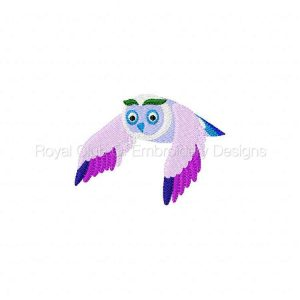 Royal Club Of Embroidery Designs - Machine Embroidery Patterns Colorful Owls Set