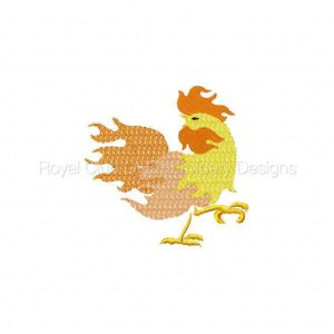 Royal Club Of Embroidery Designs - Machine Embroidery Patterns Colorful Roosters Set
