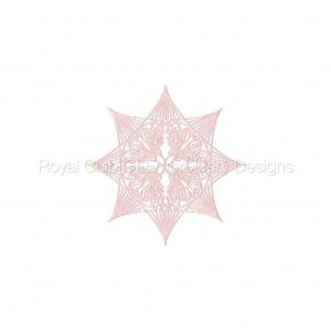 Royal Club Of Embroidery Designs - Machine Embroidery Patterns Colorful Snow Flakes Set