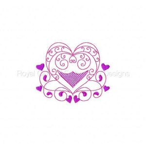 Royal Club Of Embroidery Designs - Machine Embroidery Patterns Colorline Hearts Set
