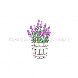 Royal Club Of Embroidery Designs - Machine Embroidery Patterns Colorline Lavender 2 Set