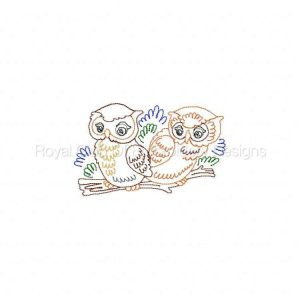 Royal Club Of Embroidery Designs - Machine Embroidery Patterns Colorline Owls Set