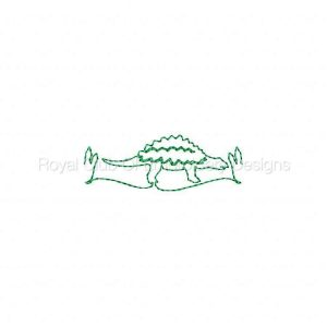Royal Club Of Embroidery Designs - Machine Embroidery Patterns Continuous Line Dino Borders Set