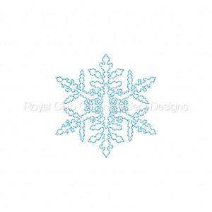 Royal Club Of Embroidery Designs - Machine Embroidery Patterns Continuous Line Snowflakes Set
