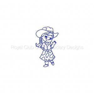 Royal Club Of Embroidery Designs - Machine Embroidery Patterns Blueline Cowgirls Set