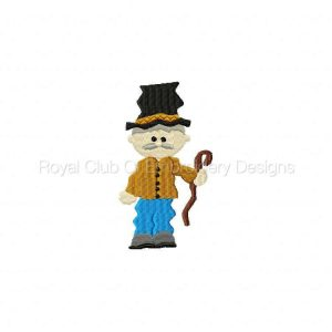 Royal Club Of Embroidery Designs - Machine Embroidery Patterns There Was a Crooked Man Set