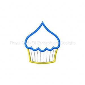 Royal Club Of Embroidery Designs - Machine Embroidery Patterns Applique Cupcakes Set