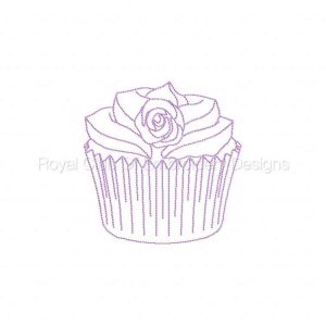 Royal Club Of Embroidery Designs - Machine Embroidery Patterns Cupcake Blues Set