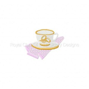 Royal Club Of Embroidery Designs - Machine Embroidery Patterns DD Cups and Saucers Set