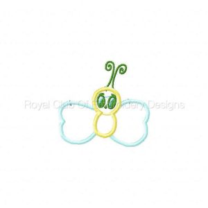 Royal Club Of Embroidery Designs - Machine Embroidery Patterns Cute Applique Bugs Set