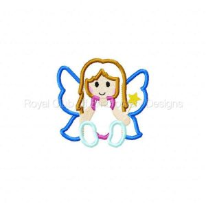Royal Club Of Embroidery Designs - Machine Embroidery Patterns Cute Fairies Applique Set